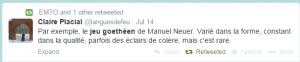 Le jeu goethéen de Manuel Neuer